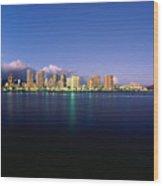 Waikiki Skyline Wood Print