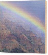 Waimea Canyon Rainbow Wood Print