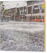 Wakefield City Centre Fountain Wood Print
