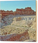 Wall Of Goblins On Carmel Canyon Trail In Goblin Valley State Park, Utah Wood Print