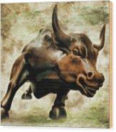 Wall Street Bull Vii Wood Print