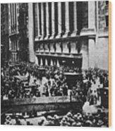 Wall Street Crash 1929 Wood Print