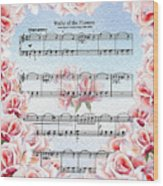 Waltz Of The Flowers Pink Roses Wood Print