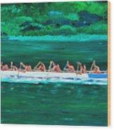 war canoe races 1977 Nooksack tribe Wa  Wood Print