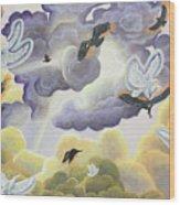 War In Heaven Wood Print