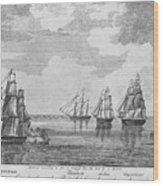 War Of 1812: Sea Battle Wood Print