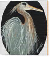 Ward Egret Wood Print