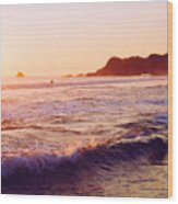 Warm Sunset In Zipolite 3 Wood Print