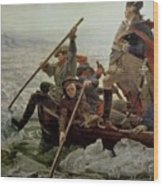 Washington Crossing The Delaware River Wood Print by Emanuel Gottlieb Leutze