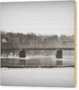 Washingtons Crossing Bridge Wood Print
