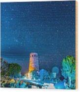 Watchtower Over The Grand Canyon   Arizona Wood Print