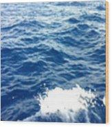 Water Crash  Wood Print