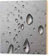 Water Drops Wood Print by Frank Tschakert