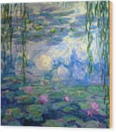 Water Lilies, Nympheas, By Claude Monet,  Musee Marmottan Monet, Wood Print