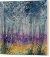 Watercolor  130608 Wood Print