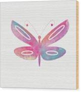Watercolor Butterfly 2- Art By Linda Woods Wood Print
