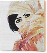Watercolor Muslim Women Wood Print