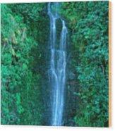Waterfall Close-up Wood Print