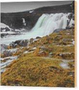 Waterfalls Of Iceland Wood Print