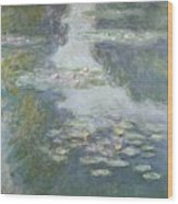 Waterlilies Wood Print by Claude Monet