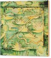 Waterlilies  Wood Print
