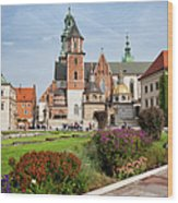 Wawel Cathedral In Krakow Wood Print