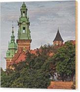 Wawel Royal Castle In Krakow Wood Print