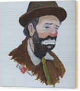 Weary Willie The Clown Wood Print