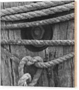 Weathered Rope Wood Print
