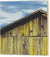 Weathered Wooden Barn, Gaviota, Santa Wood Print