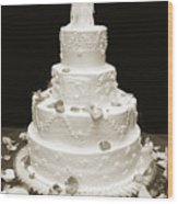 Wedding Cake Wood Print