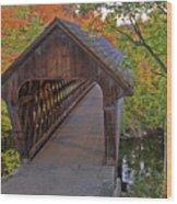 Welcoming Autumn Wood Print