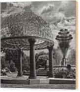 Wellspring Fountain - Council Bluffs Iowa Wood Print
