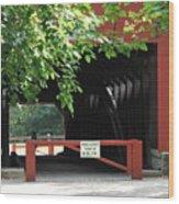 Wertz Red Covered Bridge Wood Print