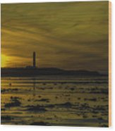 West Beach Sunset Wood Print