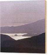 West Coast Mountain Sunset 2 Ae 24 Wood Print