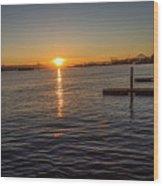 West Seattle Sunrise Wood Print