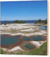 West Thumb Geyser Basin In Yellowstone National Park Wood Print