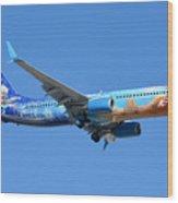 Westjet Boeing 737-8ct C-gwsv Frozen Phoenix Sky Harbor January 29 2016 Wood Print
