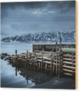 Wharf In Norris Point, Newfoundland Wood Print