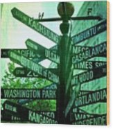 Where To Go Wood Print by Cathie Tyler