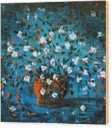 White Flowers 3 Wood Print