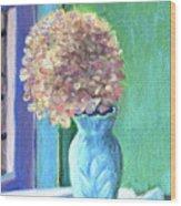 White Hydrangea Wood Print
