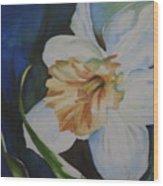White Lace Wood Print