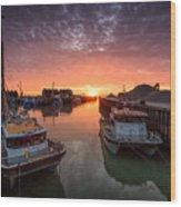 Whitstable Sunset Wood Print