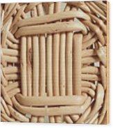 Wicker Basket Wood Print