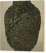 Wildflower Vase Detail Wood Print