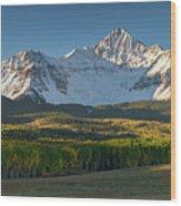 Wilson Peak Panorama Wood Print