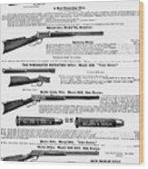 Winchester Rifles Wood Print