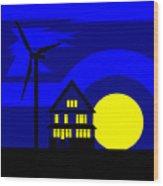 Wind And Sun Wood Print